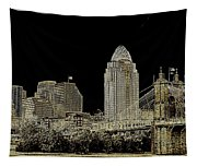 The Queen City Cincinnati Ohio Tapestry