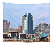 Cincinnati Panoramic Skyline Tapestry
