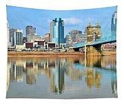 Cincinnati Skyline Reflects Tapestry