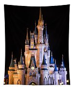 Cinderella's Castle In Magic Kingdom Tapestry