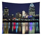 Cinicinnati At Dusk Tapestry