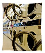 Circular Doors On Laundromat Washing Machines Tapestry