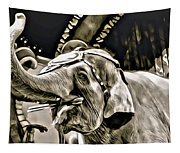 Circus Elephant Tapestry