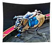 Circus Horse Trickster Tapestry