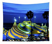 Circus Tent Swirls Of Blue Yellow Original Fine Art Photography Print  Tapestry