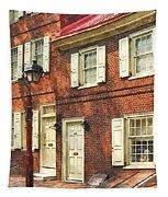 Cities - Philadelphia Brownstone Tapestry
