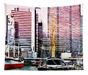 City And Water Tapestry