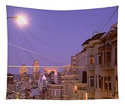 City At Night, San Francisco Tapestry