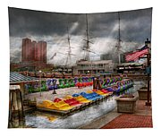 City - Baltimore Md - Modern Maryland Tapestry