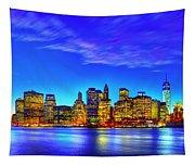 City Blue Tapestry