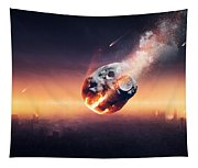 City Destroyed By Meteor Shower Tapestry