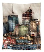 City - Hoboken Nj - New York Skyscrapers Tapestry