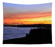 City Lights In The Sunset Tapestry