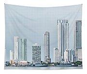 City Skyline, Bocagrande, Cartagena Tapestry