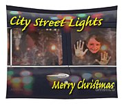 City Street Lights Tapestry
