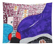 City Curb Street Parking Tapestry