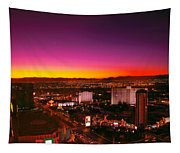 City - Vegas - Ny - Sunrise Over The City Tapestry