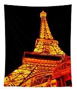City - Vegas - Paris - Eiffel Tower Restaurant Tapestry