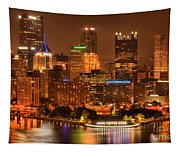 Cityscape Of Color Tapestry