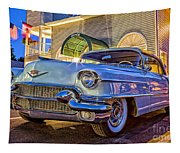 Classic Blue Caddy At Night Tapestry