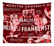 Classic Bride Of Frankenstein Poster Tapestry