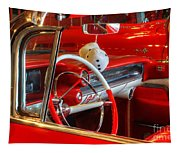 Classic Cadillac Beauty In Red Tapestry