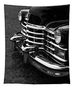 Classic Cadillac Sedan Black And White Tapestry