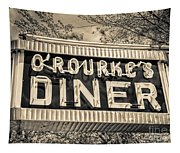 Classic Diner Neon Sign Middletown Connecticut Tapestry