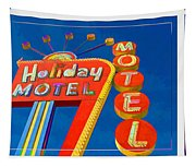 Classic Old Neon Signs Tapestry