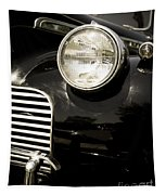 Classic Vintage Car Black And White Tapestry