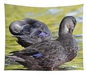Ducks On Green Tapestry