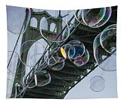Cleaning The Bridge With Bubbles Tapestry