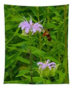 Clear-winged Hummingbird Moth Tapestry