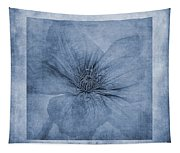 Clematis Cyanotype Tapestry
