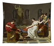 Cleopatra And Octavian Tapestry