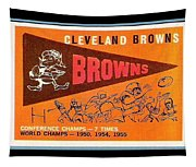 Cleveland Browns 1959 Retro Print Tapestry