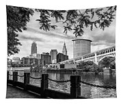 Cleveland River Cityscape Tapestry
