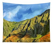 Cliffs On The Na Pali Coast Tapestry