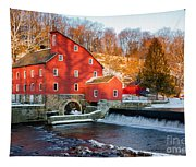 Clinton Mill In Winter Tapestry