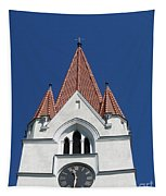 Clock Tower. Evangelic Lutheran Church. Silute. Lithuania. Tapestry