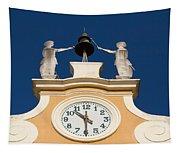 Clock Tower In Bardolino Tapestry