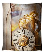 Clockmaker - A Look Back In Time Tapestry