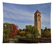 Clocktower Fall Colors Tapestry