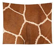 Close-up Of A Reticulated Giraffe Tapestry
