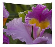 Close-up Of Purple Orchid Flowers Tapestry