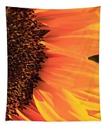 Close Up Of The Florets And Petals Of A Sunflower Tapestry