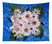 Close Up Of White Daisy Bouquet Tapestry