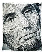 Closeup Of A Five Dollar Bill Tapestry