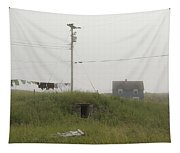 Clothes Line And Fog Tapestry