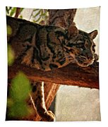 Clouded Leopard II Painted Version Tapestry